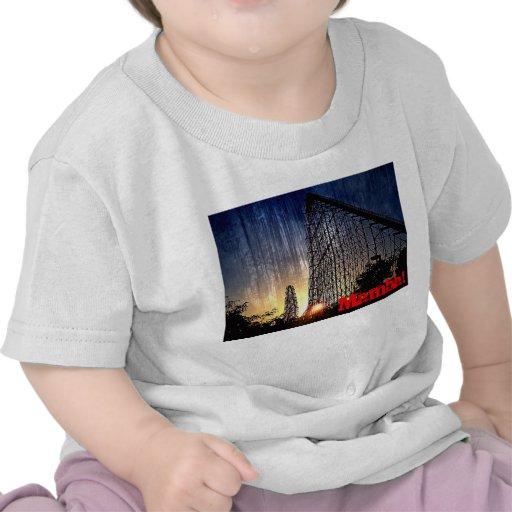 Mundo del roller coaster de la mamba de la diversi camiseta