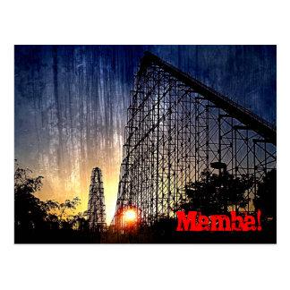 Mundo del roller coaster de la mamba de la diversi tarjeta postal