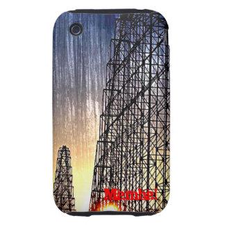 Mundo del roller coaster de la mamba de la tough iPhone 3 protectores