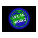 Mundo del vegano tarjetas postales