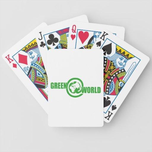 Mundo del verde @ - baraja cartas de poker