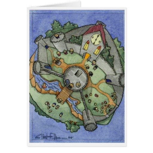 Mundo deshilvanado del castillo de Itty Felicitación