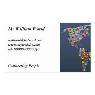 Mundo diverso tarjetas de visita