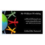 Mundo diverso, tarjetas de visita