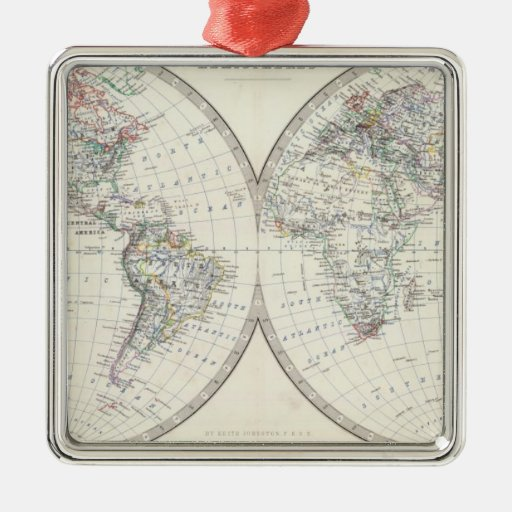 Mundo en hemisferios ornamentos de reyes