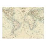 Mundo en hemisferios postal