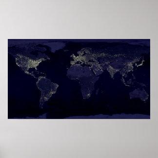 Mundo en la noche póster