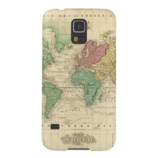 Mundo en la proyección 2 de Mercators Carcasas Para Galaxy S5