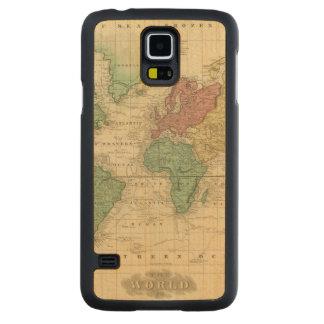 Mundo en la proyección 2 de Mercators Funda De Galaxy S5 Slim Arce