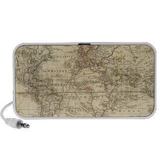 Mundo en la proyección de Mercator Notebook Altavoces