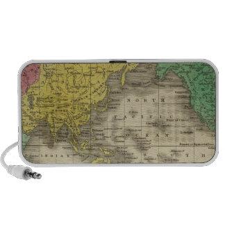 Mundo en la proyección de Mercator iPhone Altavoces