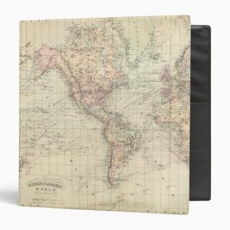 """Mundo en la proyección de Mercator Carpeta 1 1/2"""""""