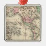 Mundo en la proyección de Mercator Adornos De Navidad