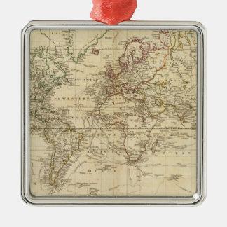 Mundo en la proyección de Mercator Ornaments Para Arbol De Navidad