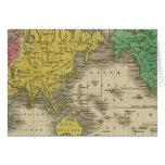 Mundo en la proyección de Mercator Felicitación
