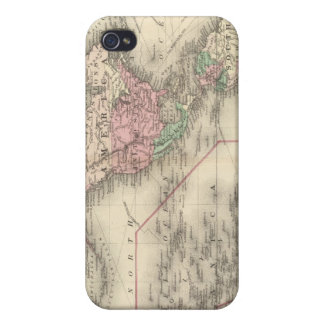 Mundo en la proyección de Mercator iPhone 4 Carcasa