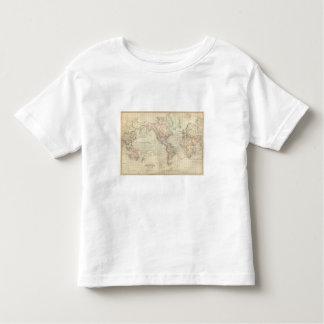 Mundo en la proyección de Mercator Playera De Bebé