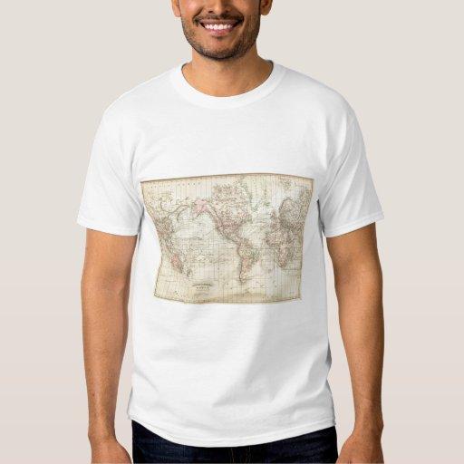 Mundo en la proyección de Mercator Polera