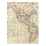 Mundo en la proyección de Mercator Postal