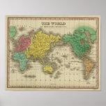 Mundo en la proyección de Mercator Poster