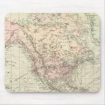 Mundo en la proyección de Mercator Tapete De Ratones