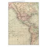 Mundo en la proyección de Mercator Tarjeta