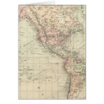 Mundo en la proyección de Mercator Tarjeta De Felicitación