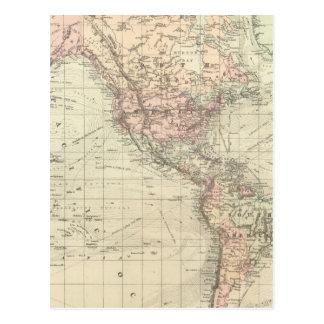 Mundo en la proyección de Mercator Postales