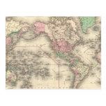 Mundo en la proyección de Mercator Tarjetas Postales