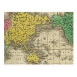 Mundo en la proyección de Mercator Tarjeta Postal