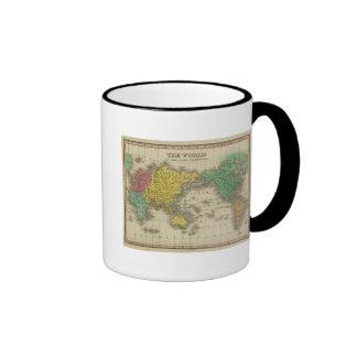 Mundo en la proyección de Mercator Taza
