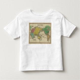 Mundo en la proyección de Mercator Tee Shirts