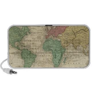 Mundo en la proyección de Mercators iPhone Altavoz