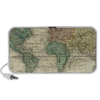 Mundo en la proyección de Mercators Mp3 Altavoces