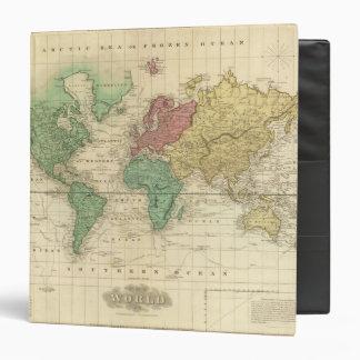 """Mundo en la proyección de Mercators Carpeta 1 1/2"""""""