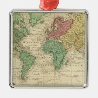Mundo en la proyección de Mercators Adorno De Navidad