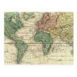 Mundo en la proyección de Mercators Postales