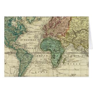 Mundo en la proyección de Mercators Tarjeta De Felicitación