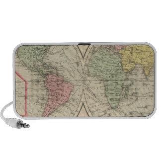 Mundo en la proyección globular iPhone altavoz