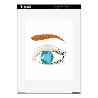Mundo en ojo iPad skins