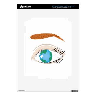 Mundo en ojo pegatinas skins para iPad 3