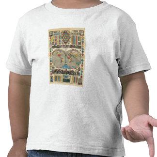 Mundo en una visión camisetas