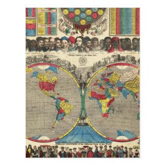 Mundo en una visión postales