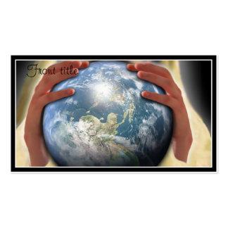 Mundo entero en sus manos tarjetas de visita