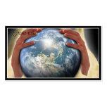 Mundo entero en sus manos tarjeta de visita
