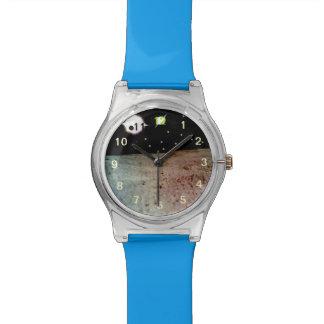 Mundo extranjero con dos soles relojes de pulsera