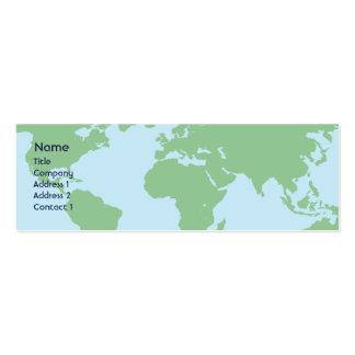 Mundo - flaco tarjetas de visita mini