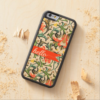 Mundo floral colorido intrépido del hola del funda de iPhone 6 bumper arce