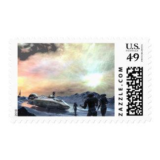 mundo gemelo del sol sello postal