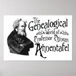 Mundo genealógico de profesor Ahnentafel Poster
